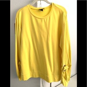 Halogen sweater with sleeve details